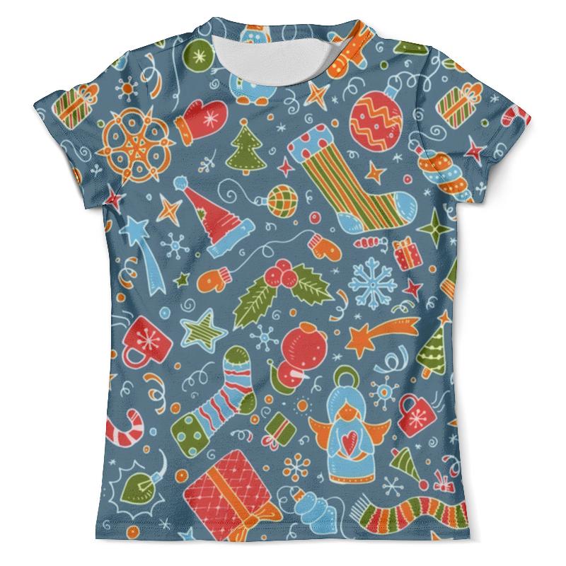 Футболка с полной запечаткой (мужская) Printio Новогодние игрушки футболка с полной запечаткой женская printio новогодние игрушки