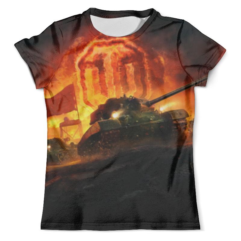 Футболка с полной запечаткой (мужская) Printio Worlds of tanks цена и фото