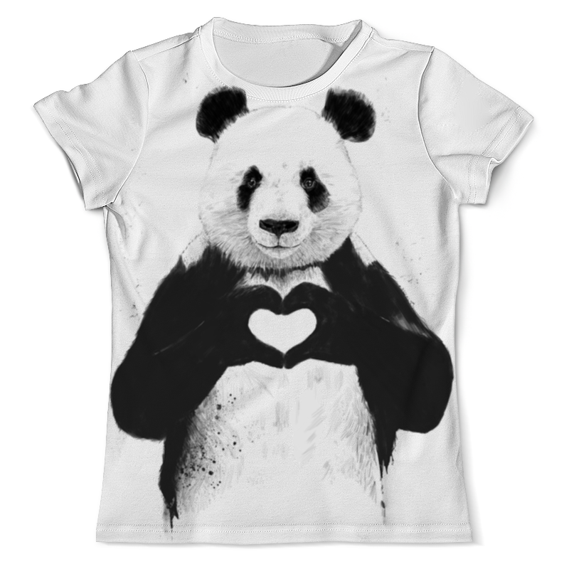 Футболка с полной запечаткой (мужская) Printio Panda love 3d все цены