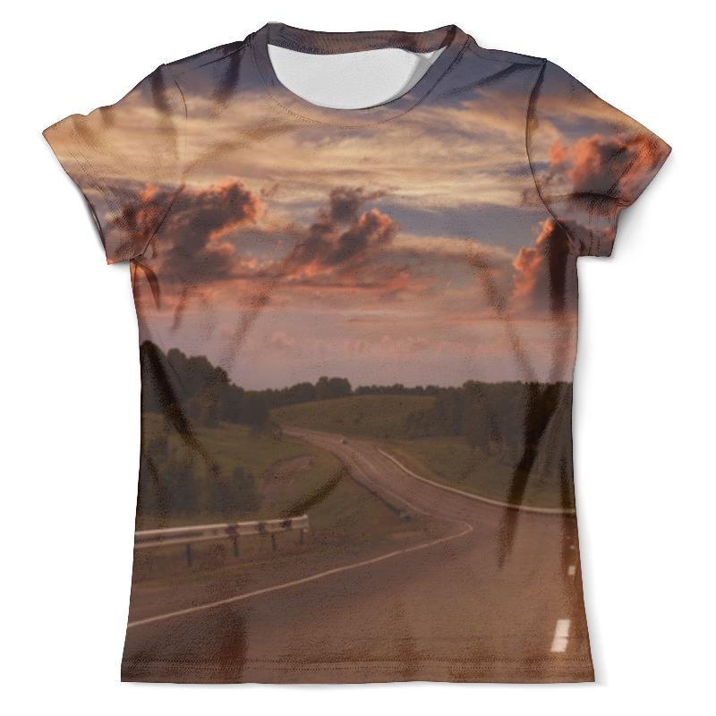 Футболка с полной запечаткой (мужская) Printio Дорога на закате илия майко дорога черезад
