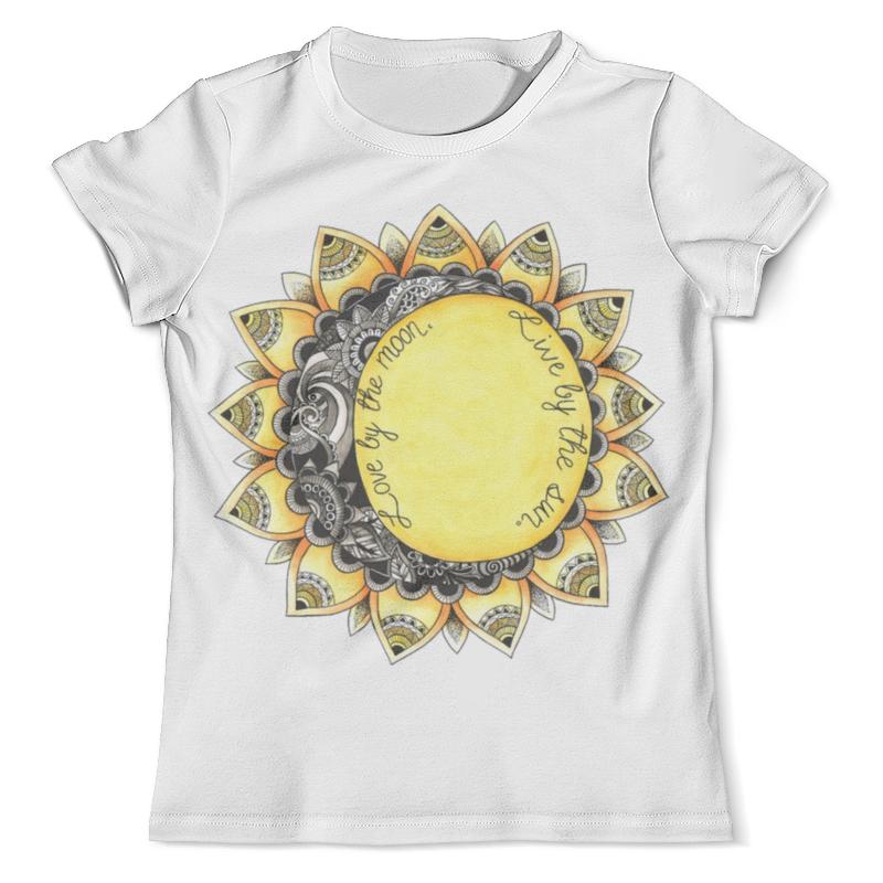 Футболка с полной запечаткой (мужская) Printio Love by the moon. live by the sun. the hero within six archetypes we live by
