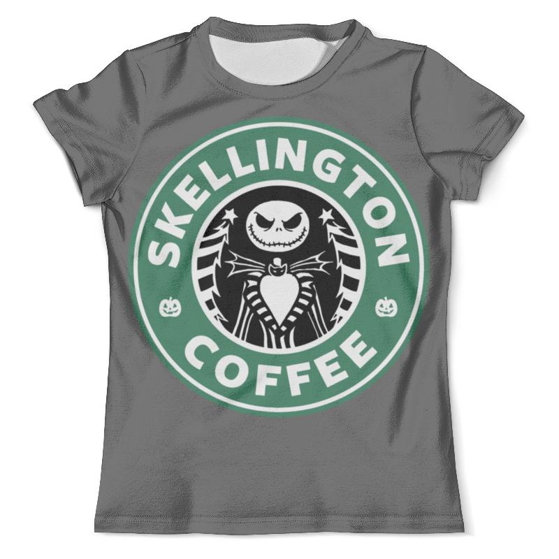 Футболка с полной запечаткой (мужская) Printio Starbucks / skellington coffee сумка printio starbucks coffee