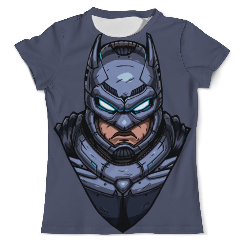 Футболка с полной запечаткой (мужская) Printio Amored batman / бронированный бэтмен футболка с полной запечаткой мужская printio batman x joker бэтмен