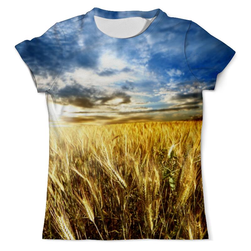 Футболка с полной запечаткой (мужская) Printio Поле пшеницы на закате
