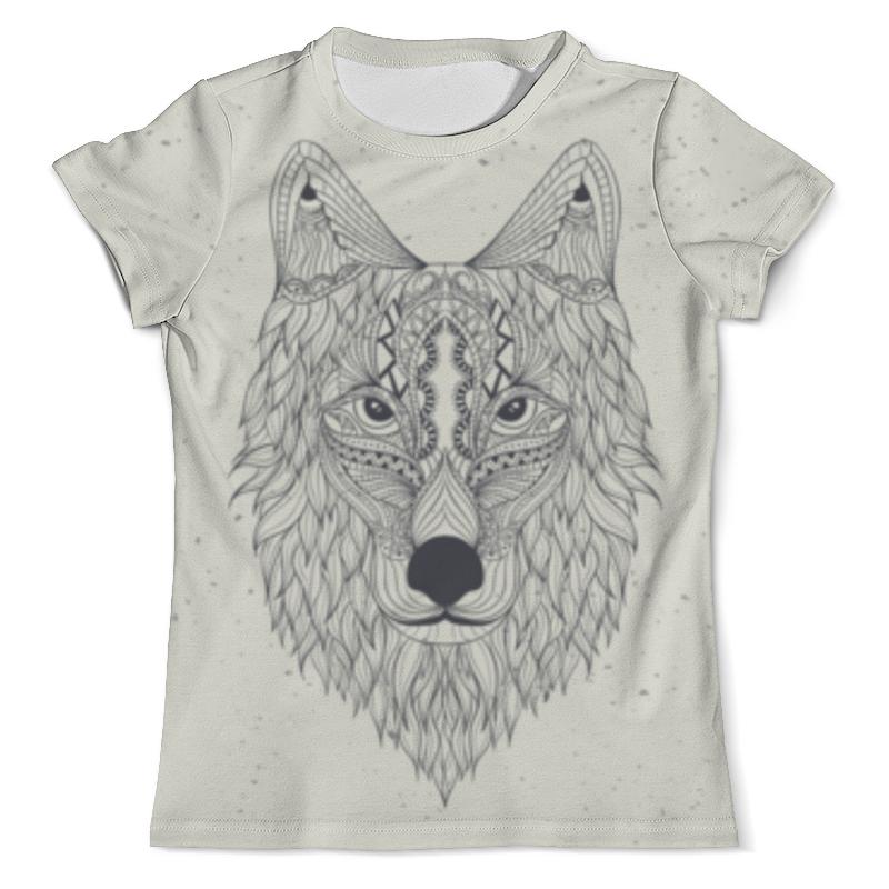 Футболка с полной запечаткой (мужская) Printio Волк-шаман футболка с полной запечаткой для девочек printio волк шаман