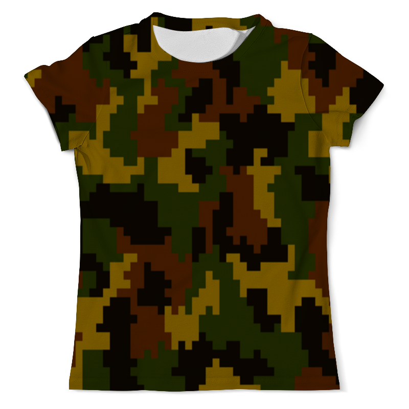 Футболка с полной запечаткой (мужская) Printio Смешанный камуфляж рубашка springfield springfield sp014ewcden8