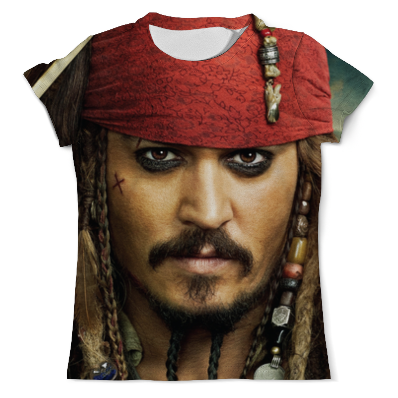 Printio Джек воробей (пираты карибского моря) свитшот женский с полной запечаткой printio джек воробей пираты карибского моря
