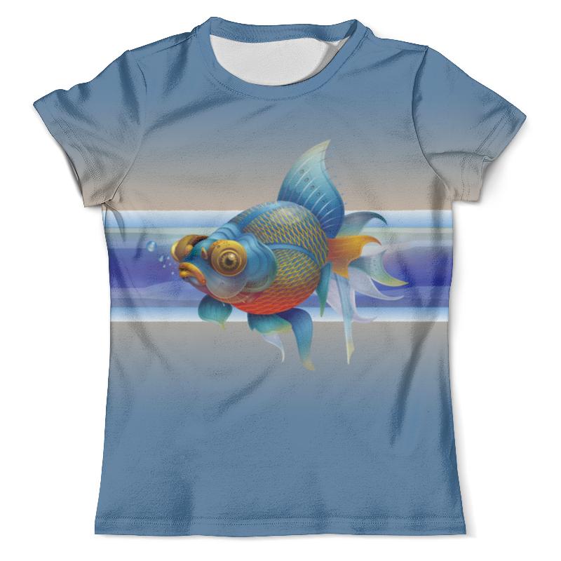 Футболка с полной запечаткой (мужская) Printio Золотая рыбка