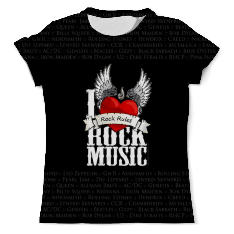Фото - Printio I love rock футболка с полной запечаткой женская printio i will shower you with love