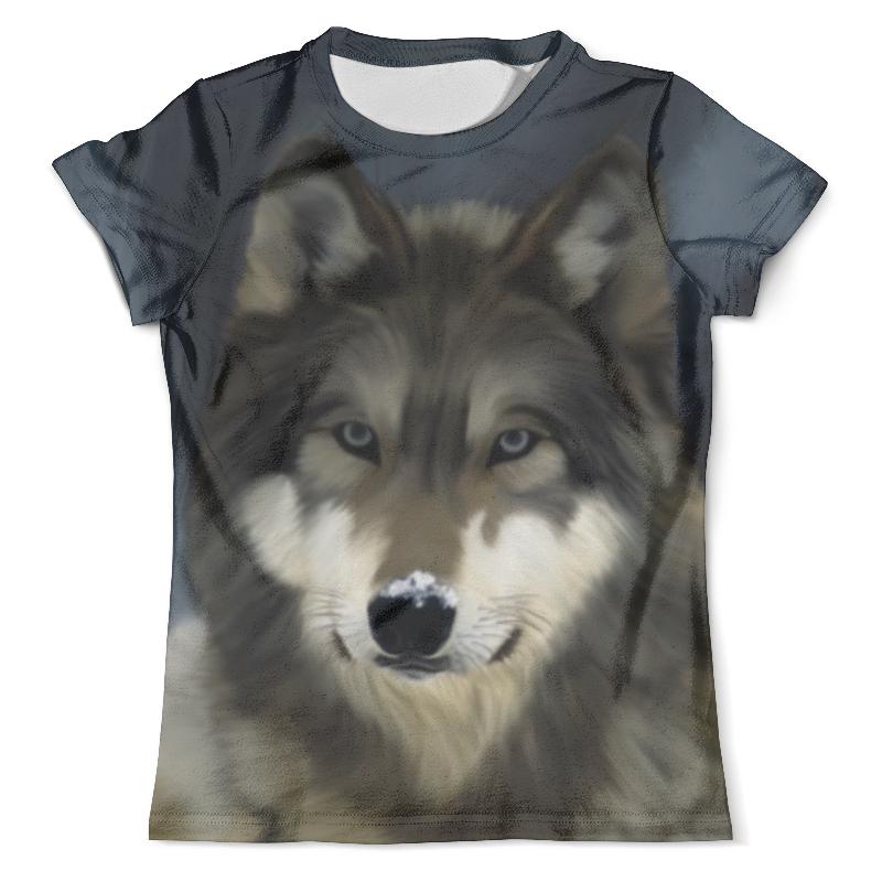Футболка с полной запечаткой (мужская) Printio Волк хищник футболка с полной запечаткой мужская printio красная шапочка и серый волк