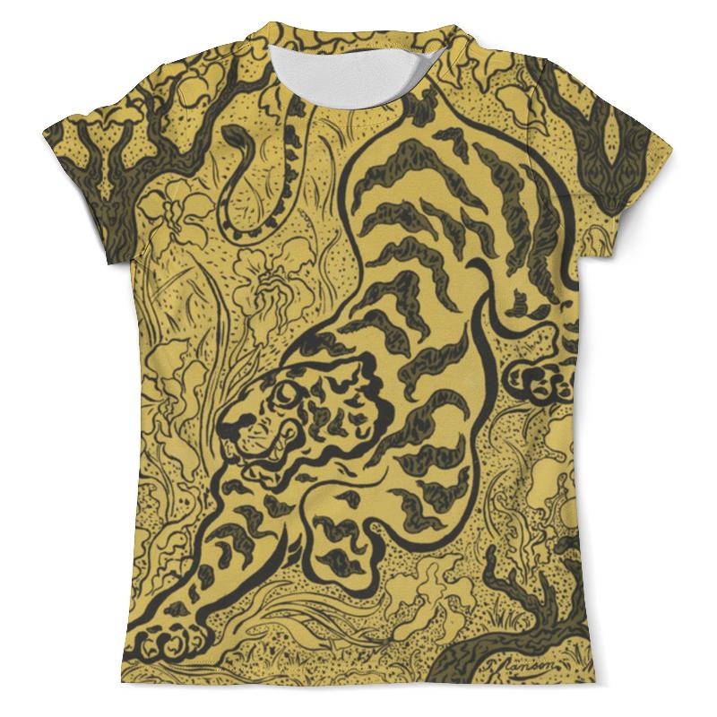 Футболка с полной запечаткой (мужская) Printio Тигр в джунглях (поль-элье рансон) футболка с полной запечаткой мужская printio натюрморт с конской головой поль гоген