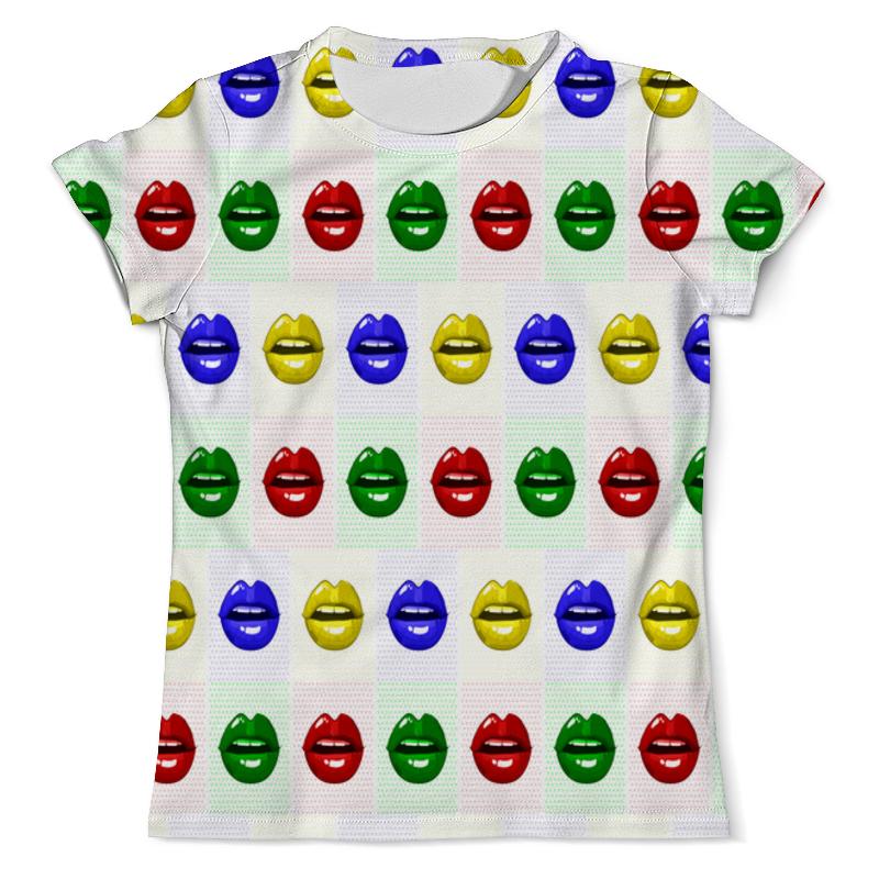 Printio Цветные губы футболка с полной запечаткой мужская printio цветные текстуры