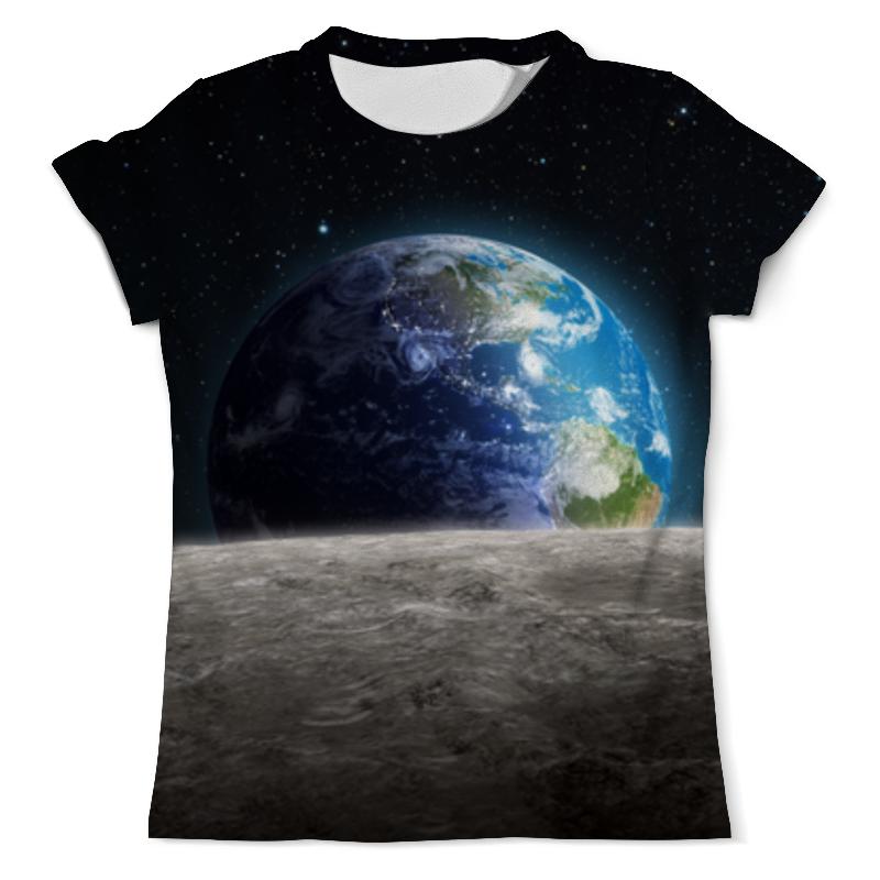 Футболка с полной запечаткой (мужская) Printio Земля с луны время земли