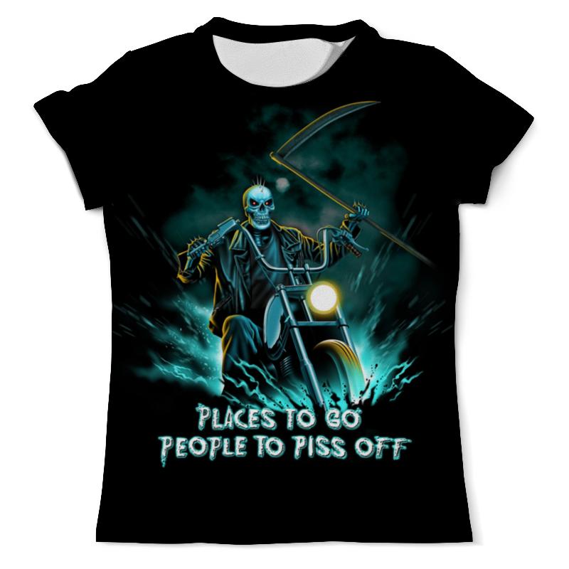 Футболка с полной запечаткой (мужская) Printio Skull rider футболка с полной запечаткой мужская printio skull triangle