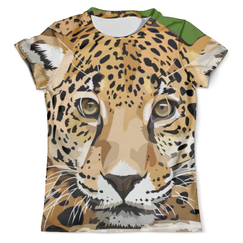 Футболка с полной запечаткой (мужская) Printio Леопард футболка с полной запечаткой мужская printio дикий леопард кот