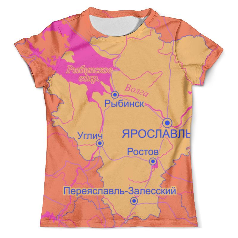 Футболка с полной запечаткой (мужская) Printio Ярославль. ярославская область. ярославль карта города