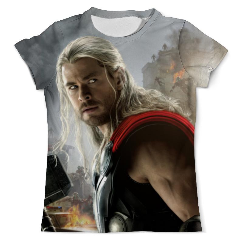 Футболка с полной запечаткой (мужская) Printio Тор - мстители футболка asics футболка layering top