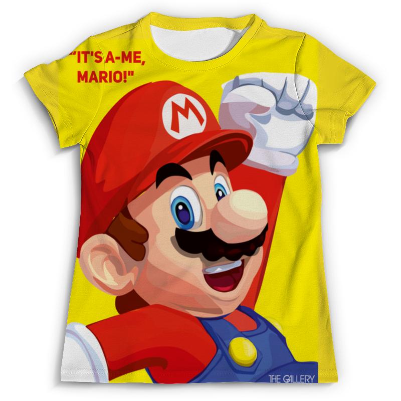 Футболка с полной запечаткой (мужская) Printio Марио футболка с полной запечаткой мужская printio сара керриган старкрафт