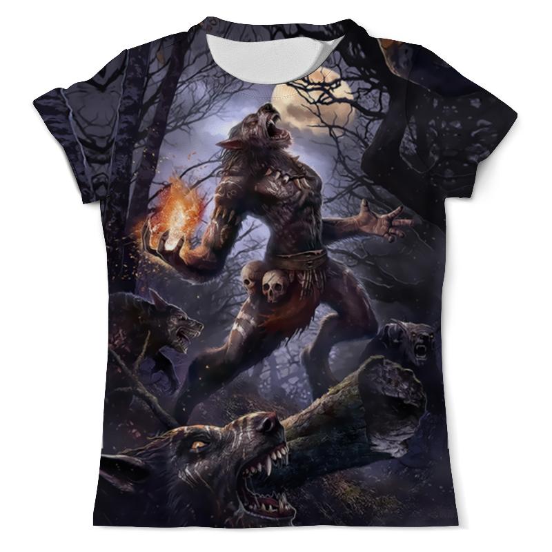 Футболка с полной запечаткой (мужская) Printio Shaman's wolf футболка с полной запечаткой мужская printio mountain wolf