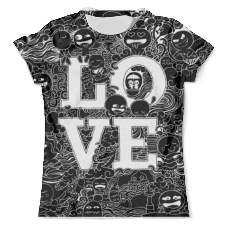 Футболка с полной запечаткой (мужская) Printio Doodle love black блокнот printio doodle love