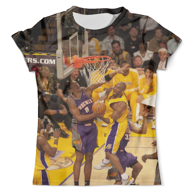Футболка с полной запечаткой (мужская) Printio Lakers - kobe trevor ariza autographed signed 8x10 photo lakers nba finals free throw coa