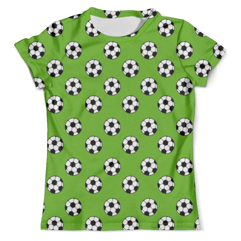 цена на Футболка с полной запечаткой (мужская) Printio Футбольные мячи