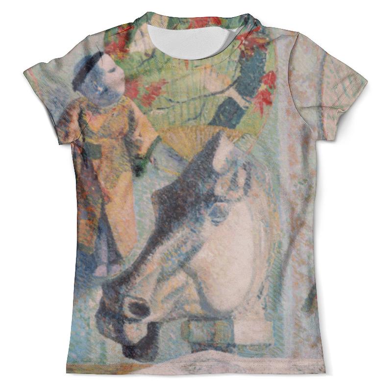 Футболка с полной запечаткой (мужская) Printio Натюрморт с конской головой (поль гоген) рюкзак с полной запечаткой printio женщина держащая плод поль гоген