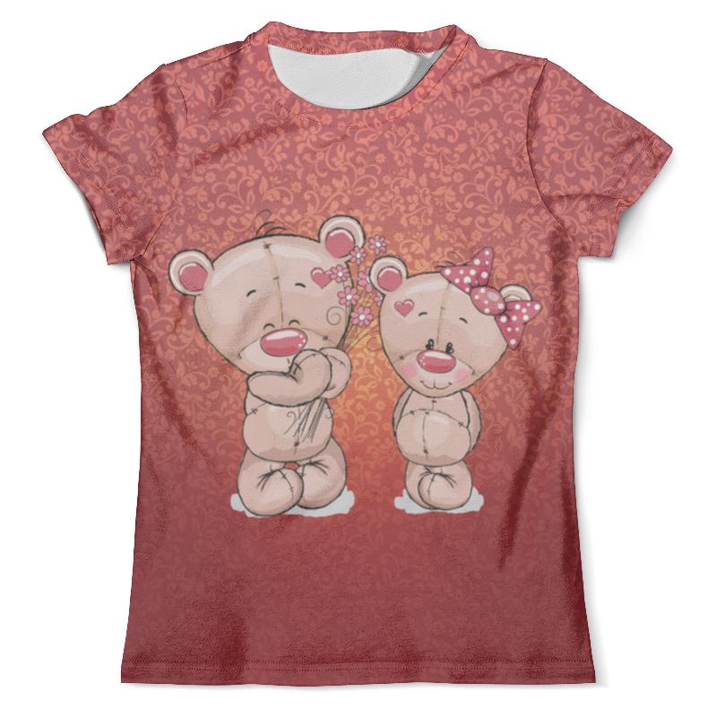 Футболка с полной запечаткой (мужская) Printio Влюбленные мишки тедди. парные футболки. футболка с полной запечаткой мужская printio влюбленные птички парные футболки