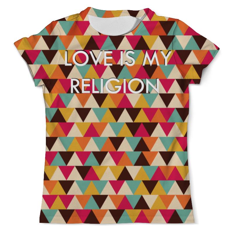 Printio Любовь-моя религия футболка с полной запечаткой женская printio любовь моя религия
