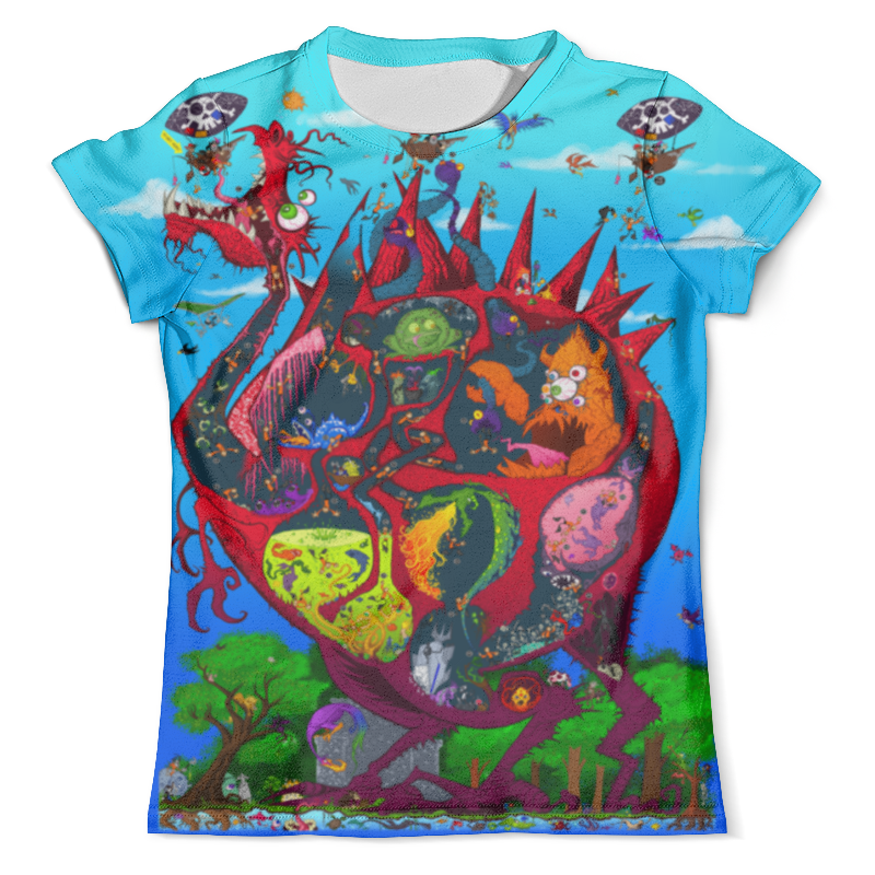 Футболка с полной запечаткой (мужская) Printio Пираты и дракон футболка с полной запечаткой мужская printio огненный дракон