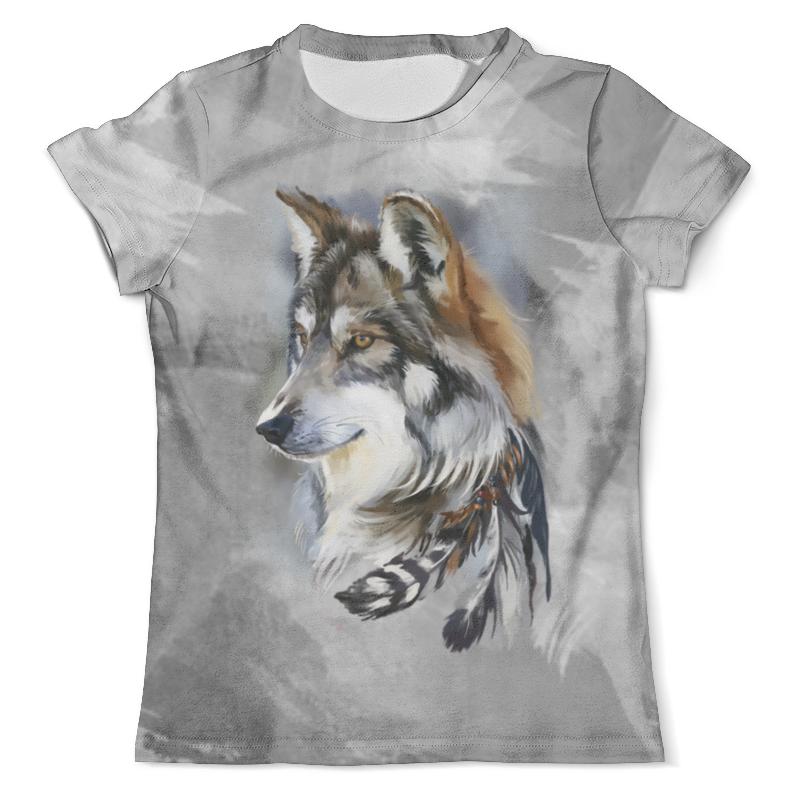 Футболка с полной запечаткой (мужская) Printio Волк (1) футболка с полной запечаткой мужская printio красная шапочка и серый волк 3