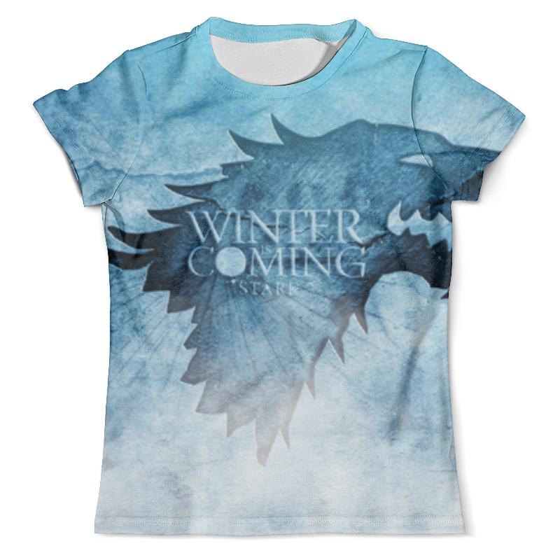 Футболка с полной запечаткой (мужская) Printio Старки (зима близко) футболка с полной запечаткой для девочек printio зима близко