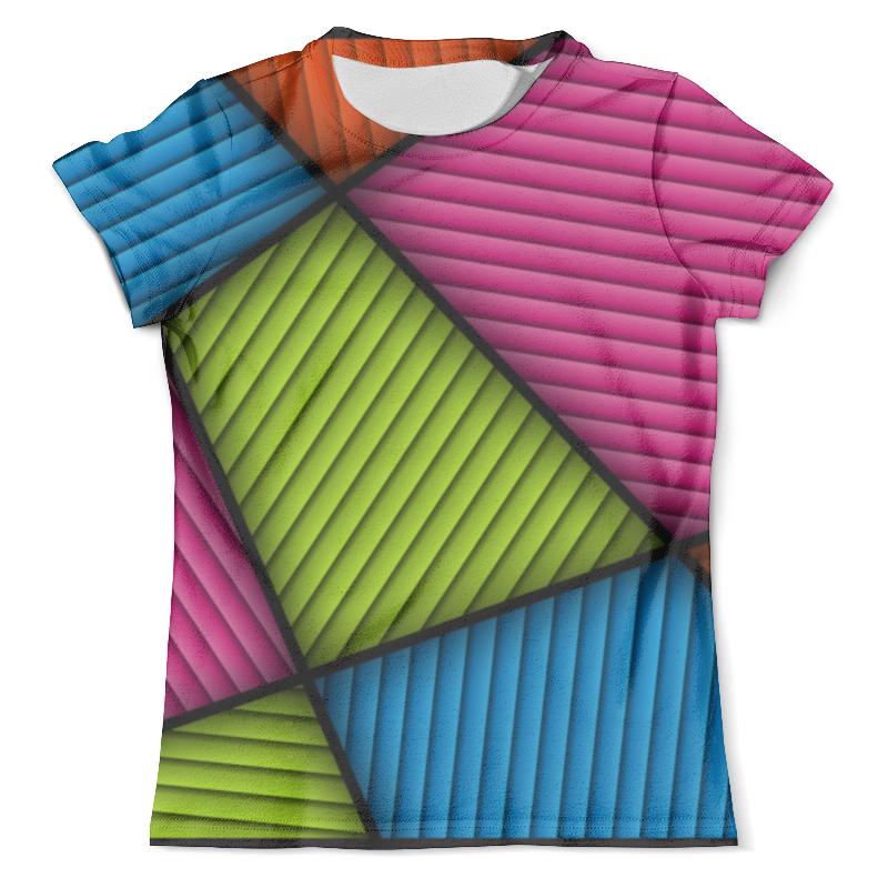 Футболка с полной запечаткой (мужская) Printio Цветная абстракция футболка с полной запечаткой мужская printio красная абстракция с ножницами