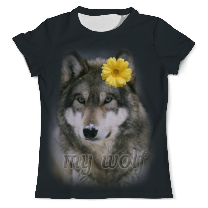 Футболка с полной запечаткой (мужская) Printio Мой волк футболка с полной запечаткой мужская printio красная шапочка и серый волк 3