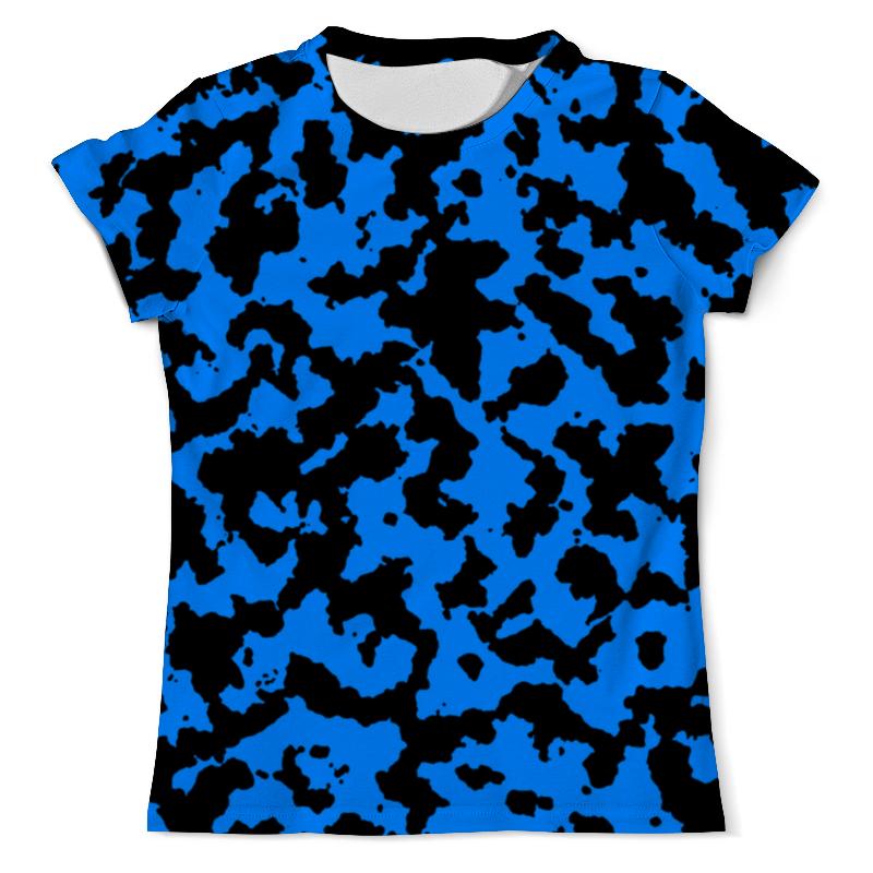Футболка с полной запечаткой (мужская) Printio Чёрно-синий камуфляж футболка с полной запечаткой мужская printio русь чёрно белая душа