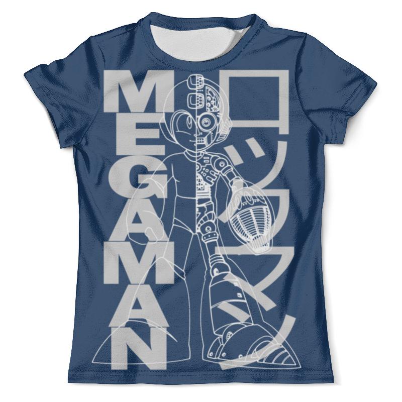 Футболка с полной запечаткой (мужская) Printio Mega man (rockman) 100% original bandai tamashii nations nxedge style action figure rockman x from mega man x