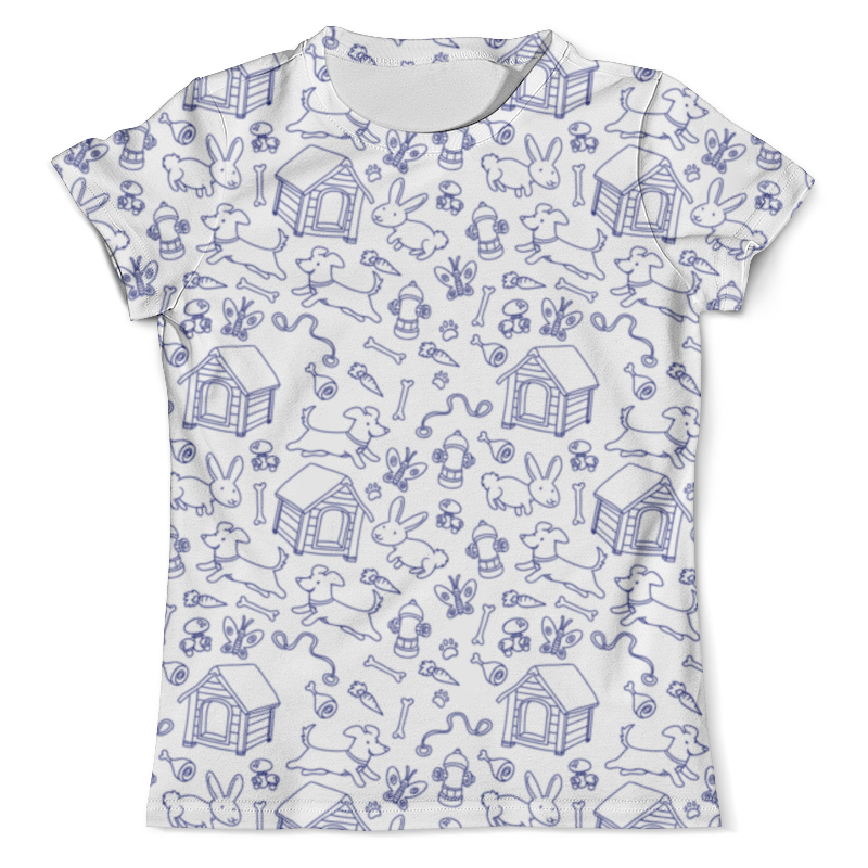 Футболка с полной запечаткой (мужская) Printio Собаки и кролики футболка с полной запечаткой для девочек printio собаки и кролики