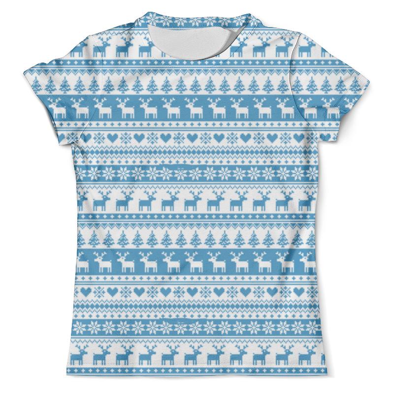 Футболка с полной запечаткой (мужская) Printio Свитер с оленями футболка с полной запечаткой мужская printio фрактальная эзотерика мандалы