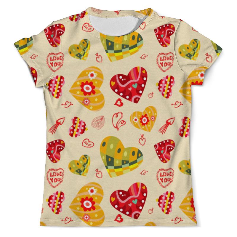 Футболка с полной запечаткой (мужская) Printio Сердечки цветные футболка с полной запечаткой мужская printio цветные текстуры