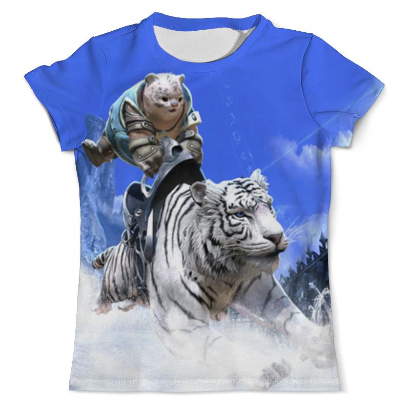Футболка с полной запечаткой (мужская) Printio Белый тигр футболка с полной запечаткой мужская printio тигр арт 1