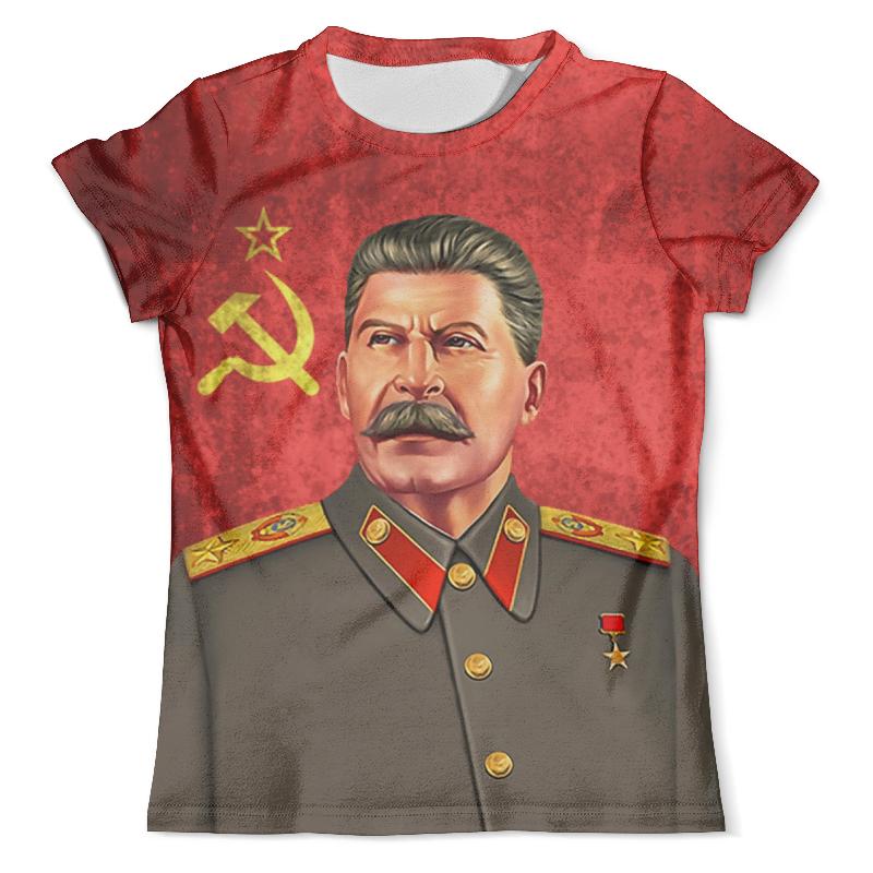 Футболка с полной запечаткой (мужская) Printio Stalin (flag) stalin