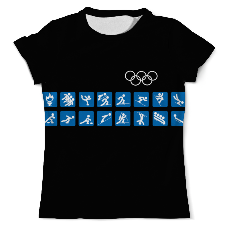 Футболка с полной запечаткой (мужская) Printio Зимние игры мужская одежда для спорта