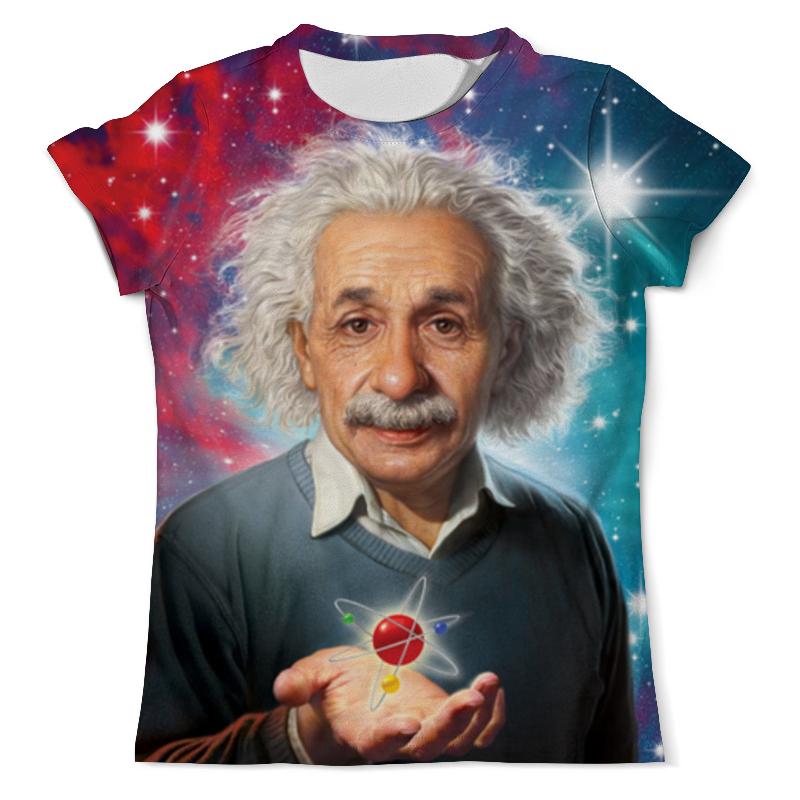 Футболка с полной запечаткой (мужская) Printio Альберт эйнштейн who was albert einstein