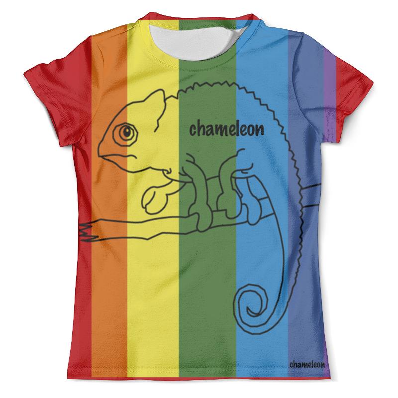 Футболка с полной запечаткой (мужская) Printio Хамелеон, сhameleon футболка хамелеон