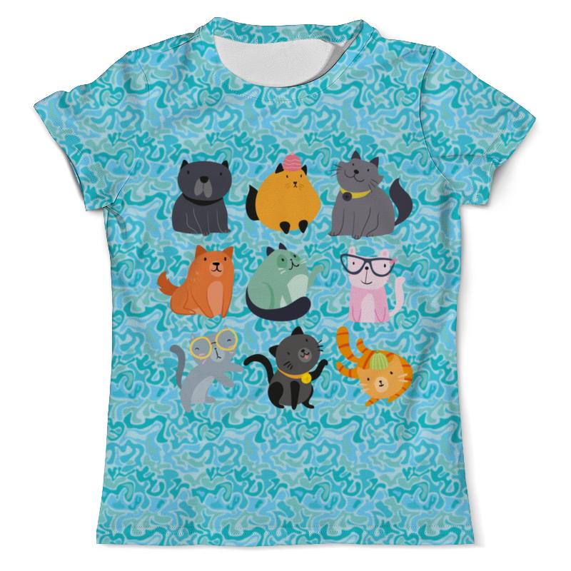Printio Цветные кошки футболка с полной запечаткой мужская printio взгляд черной кошки