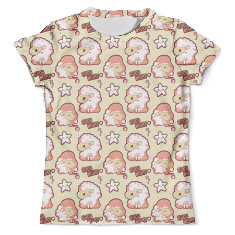 Футболка с полной запечаткой (мужская) Printio Ночные барашки ночные сорочки и рубашки
