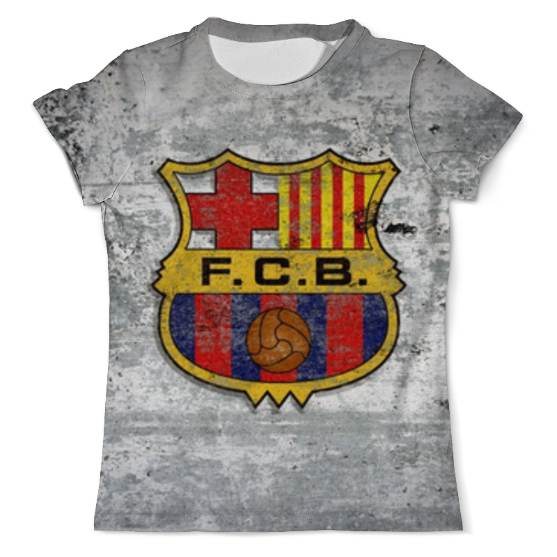 Футболка с полной запечаткой (мужская) Printio Барселона (барса)