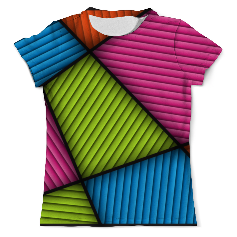 Футболка с полной запечаткой (мужская) Printio Цветная абстракция футболка с полной запечаткой мужская printio синяя абстракция