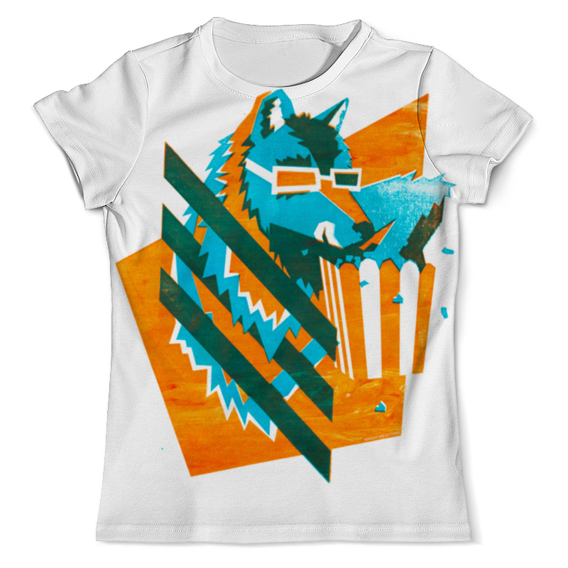 Футболка с полной запечаткой (мужская) Printio Волк с попкорном футболка с полной запечаткой мужская printio морской волк