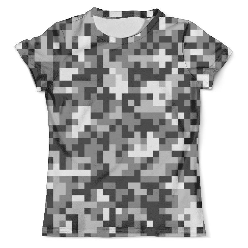 все цены на Футболка с полной запечаткой (мужская) Printio Pixel gray
